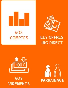 Extrait de l'interface ING